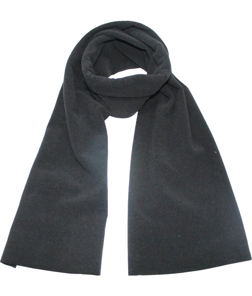 Fleece Sjaal Dubbel 170 x 30 cm   Zwart