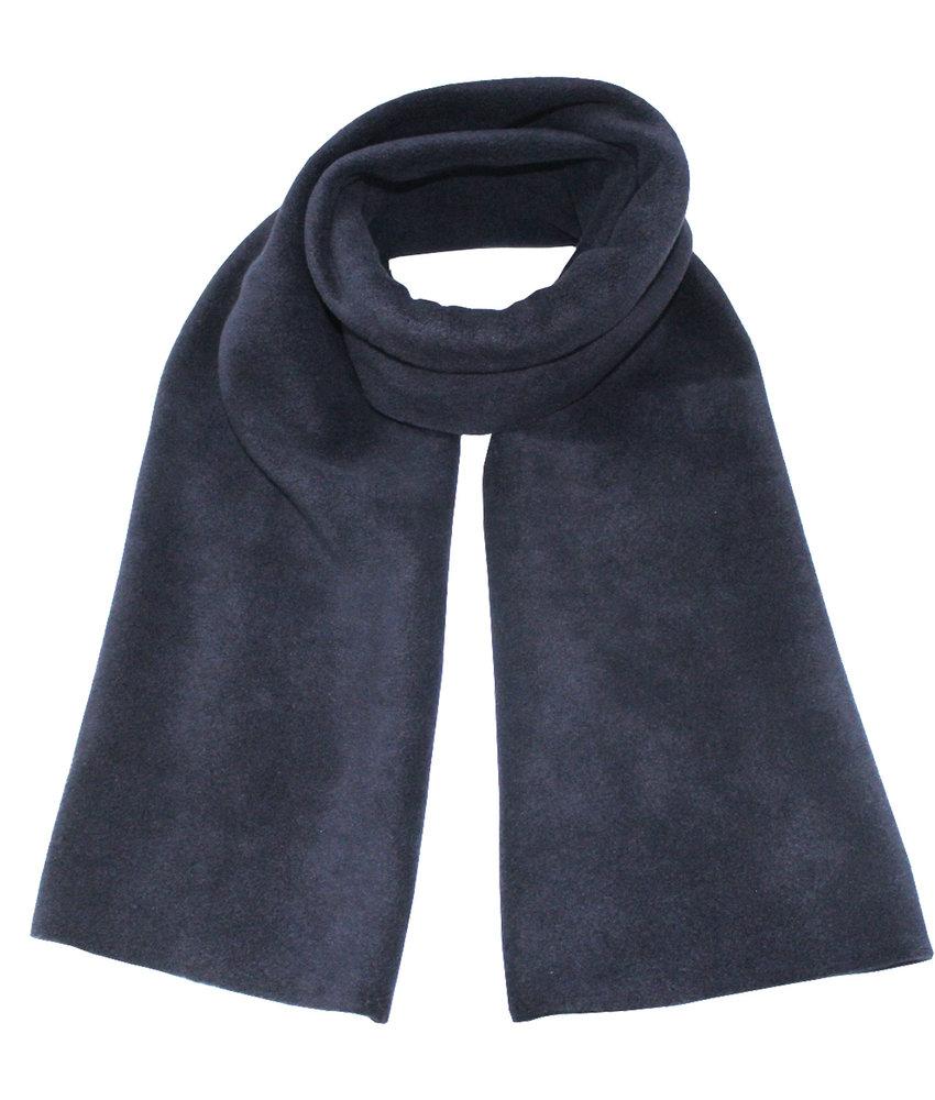 Fleece Sjaal Dubbel 170 x 30 cm   Navy Blauw