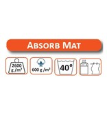 Wasbare droogloopmat Creme 70 x 125 cm.