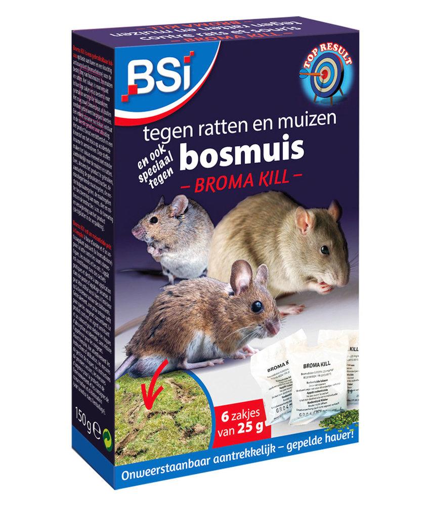 Broma Kill  tegen ratten en (bos)muizen  150g (6 x 25g)
