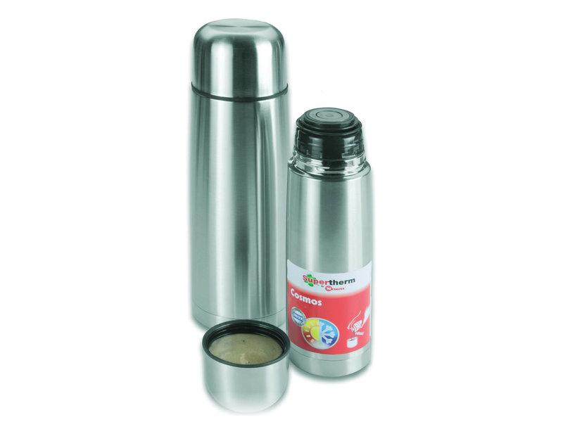"Thermosfles Inox  1 Liter  ""Metaltex-Cosmos"""