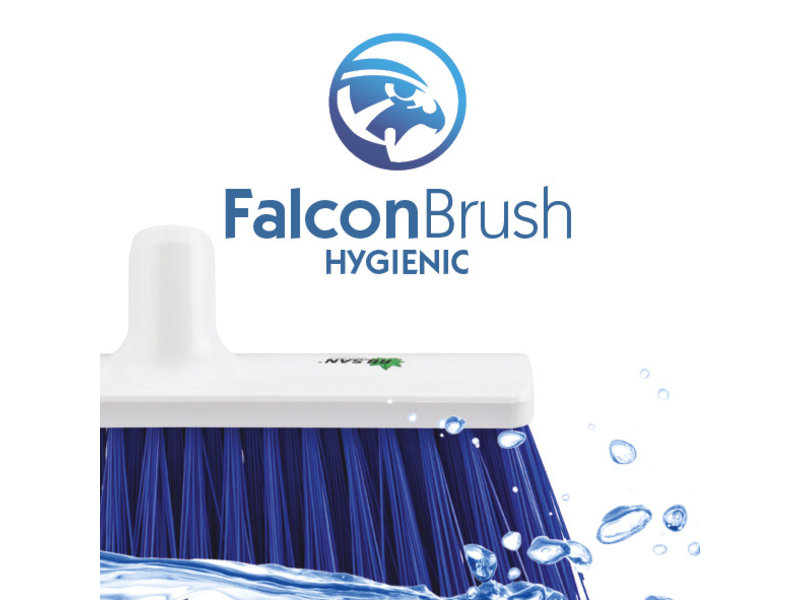 FalconBrush Zachte bezem / Kamerveger Rilsan 40 cm.  Blauw