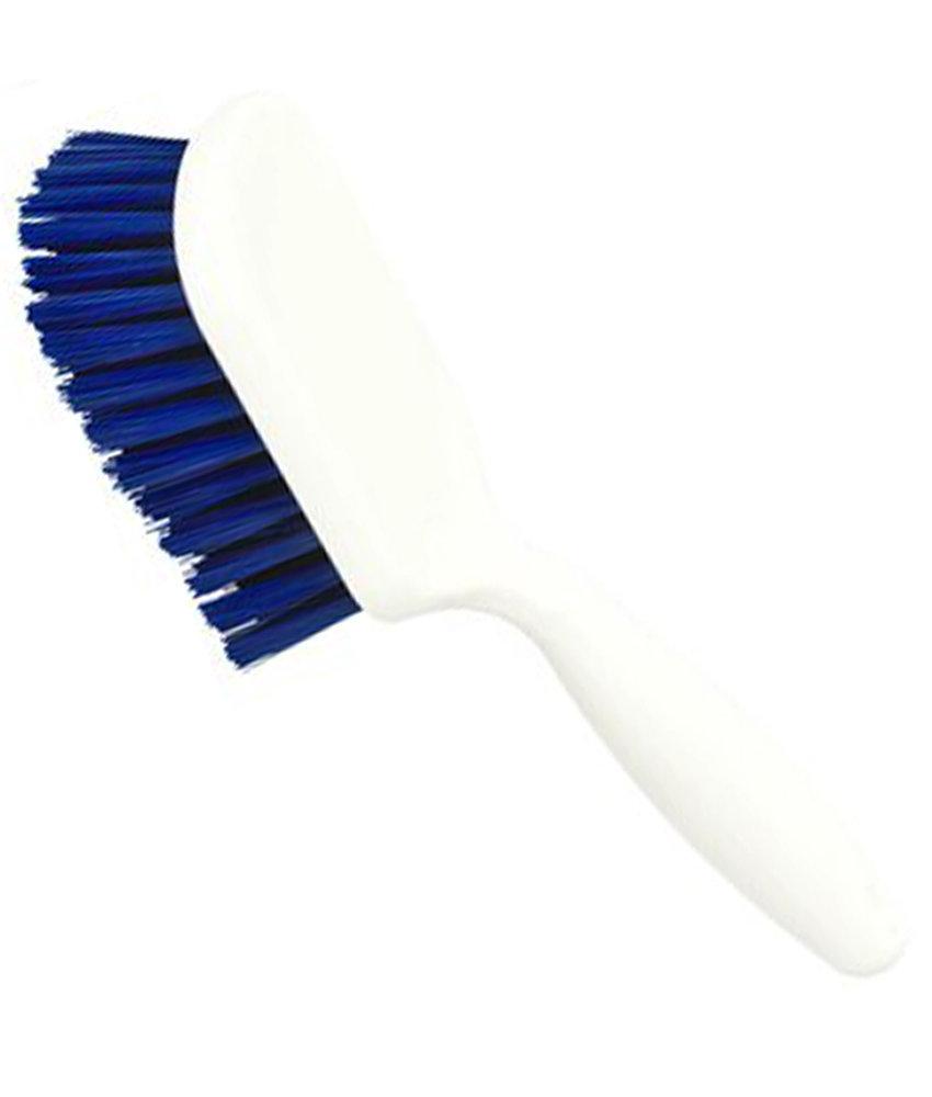 FalconBrush Kruikenschrobborstel Rilsan met kort handvat  25 cm.  - Blauw