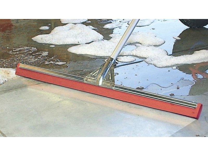 Vloertrekker versterkt 75 cm  -  Oliebestendig  rood