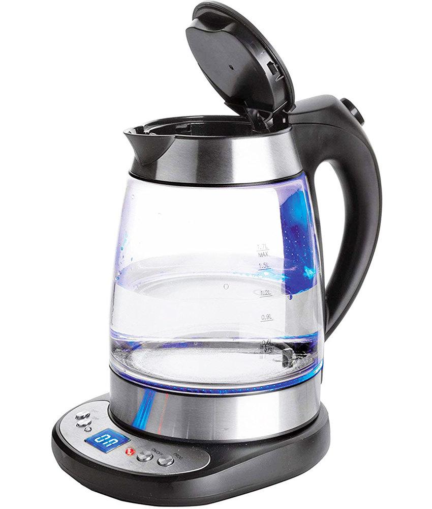 """Lacor Elektrische Glazen Waterkoker met """"Keep Warm"""""""