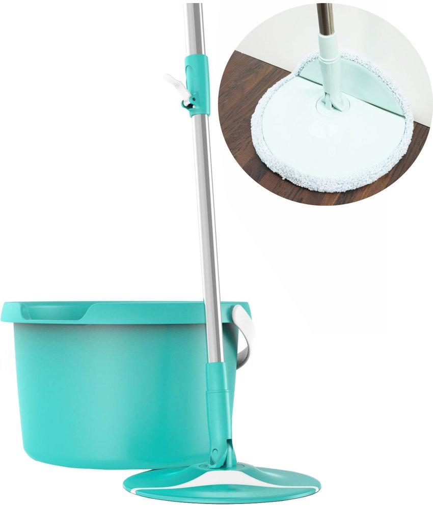 Aqua Laser Spin & Flap Microvezel Mop  - turquoise