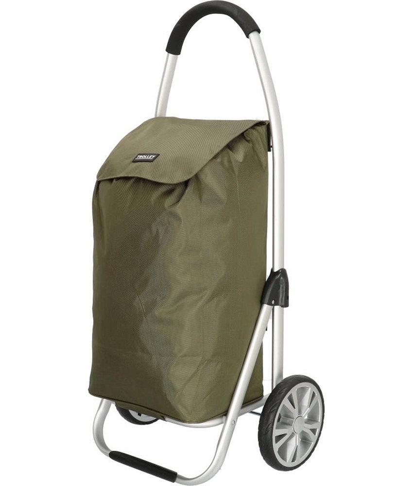 Boodschappentrolley Olijf groen 48 L. Inklapbaar Aluminium