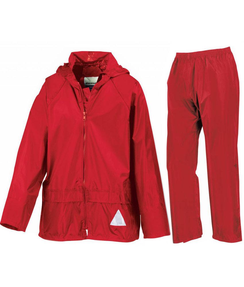 Regenpak Kinderen  Rood
