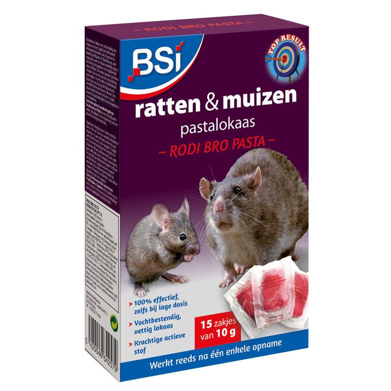 Rodi Bro Pasta tegen ratten en muizen 150gr (15x10g)