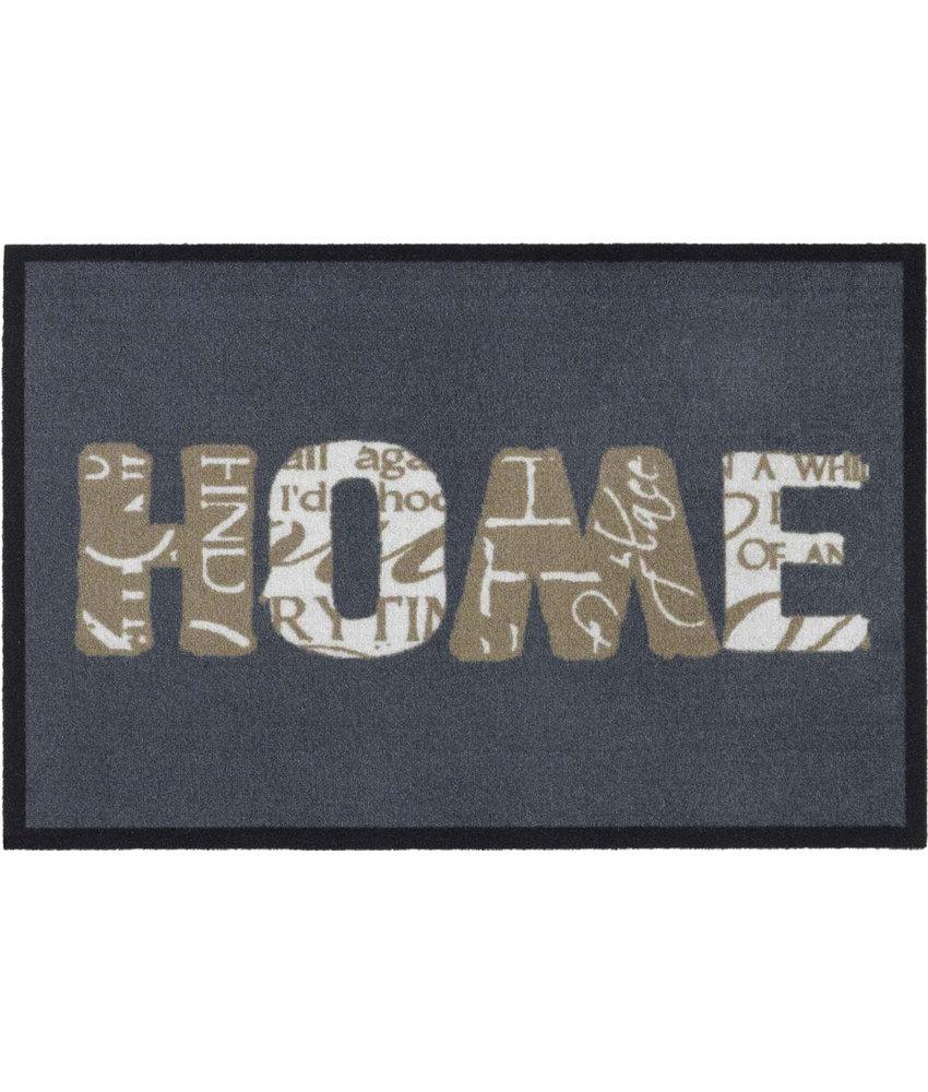 Schoonloopmat Home grey  50 x 75 cm