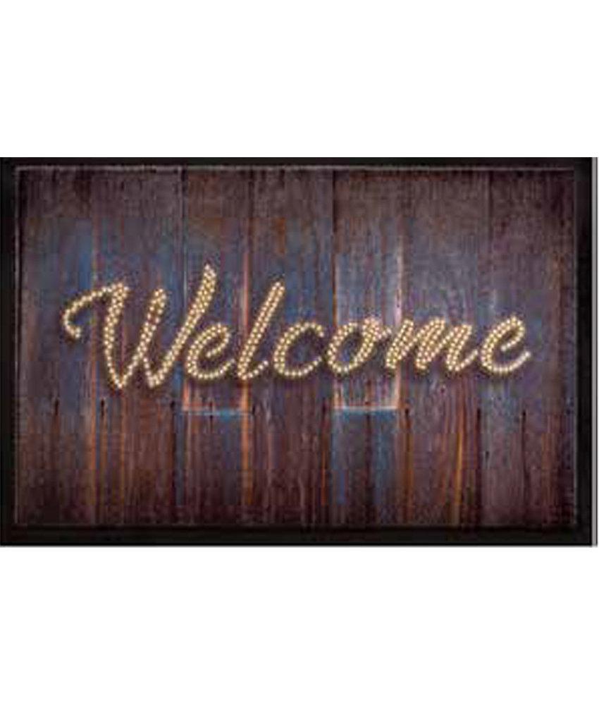 Schoonloopmat 45 x 75 cm -  Welcome Wood