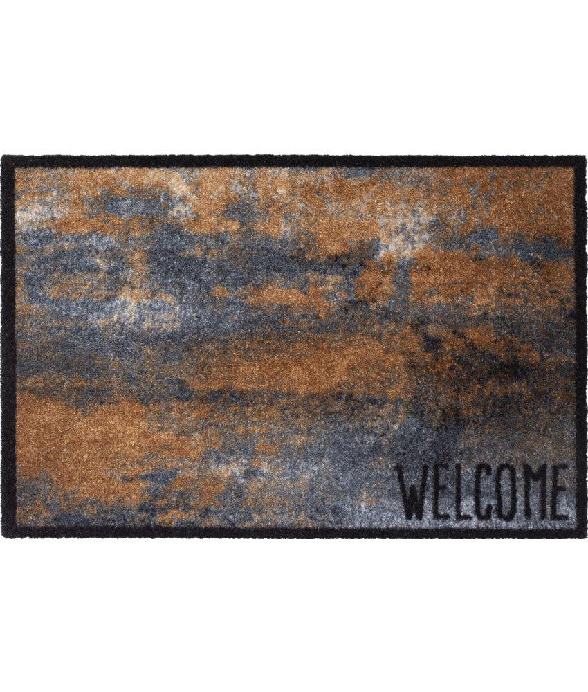 Wasbare Deurmat Welcome Rust  50 x 75 cm.