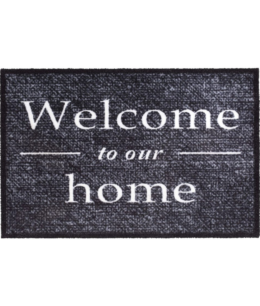 Wasbare Deurmat Welcome to our home  50 x 75 cm.