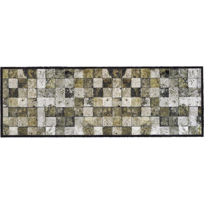 Wasbare Schoonloopmat Welcome Tiles  50 x 150 cm.