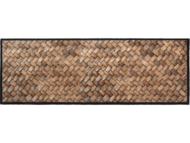 Wasbare Schoonloopmat Wicker  50 x 150 cm.