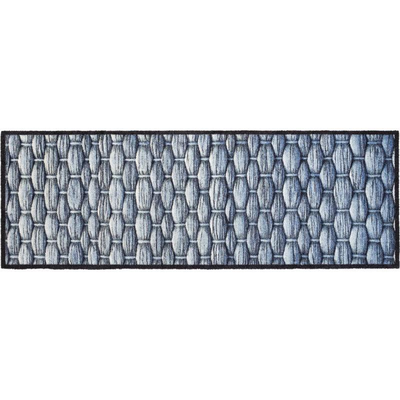 Wasbare Schoonloopmat Knots  50 x 150 cm.