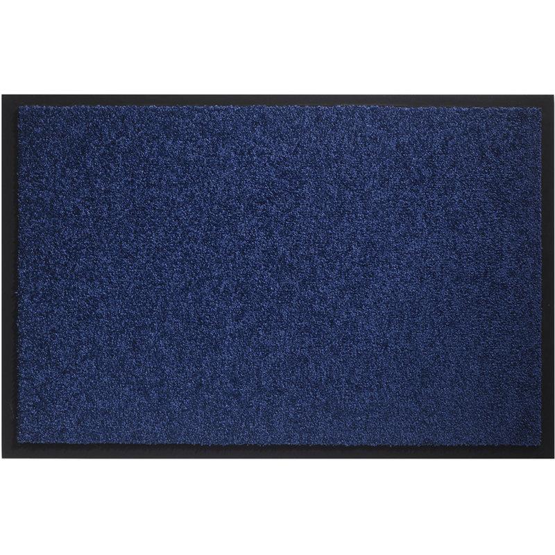 Wasbare schoonloopmat Cobalt Blauw 80x120 cm.