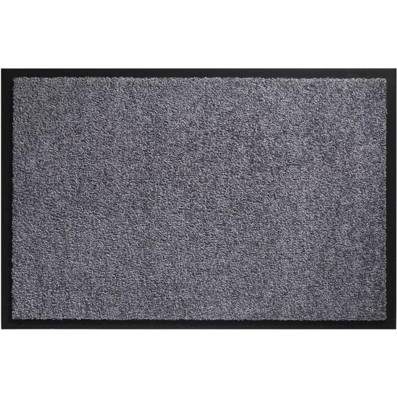 Wasbare schoonloopmat Grijs 80x120 cm.