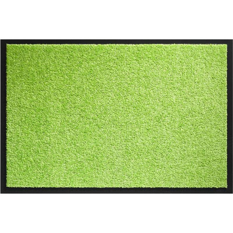 Wasbare schoonloopmat limoen Groen  80x120 cm.