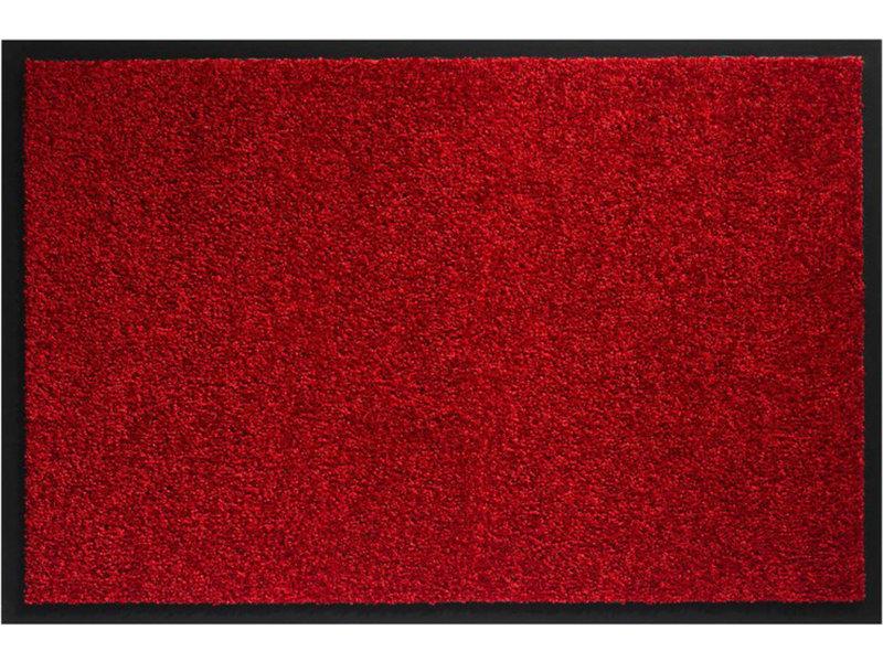 Wasbare schoonloopmat Rood  80x120 cm.