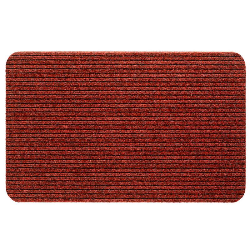 Naaldvilt deurmat Fortuna  -  classic Red 40 X 60 cm.