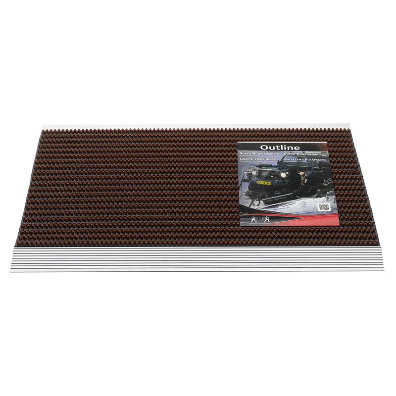 Deurmat / Borstelmat Outline  40x60 cm  Bruin