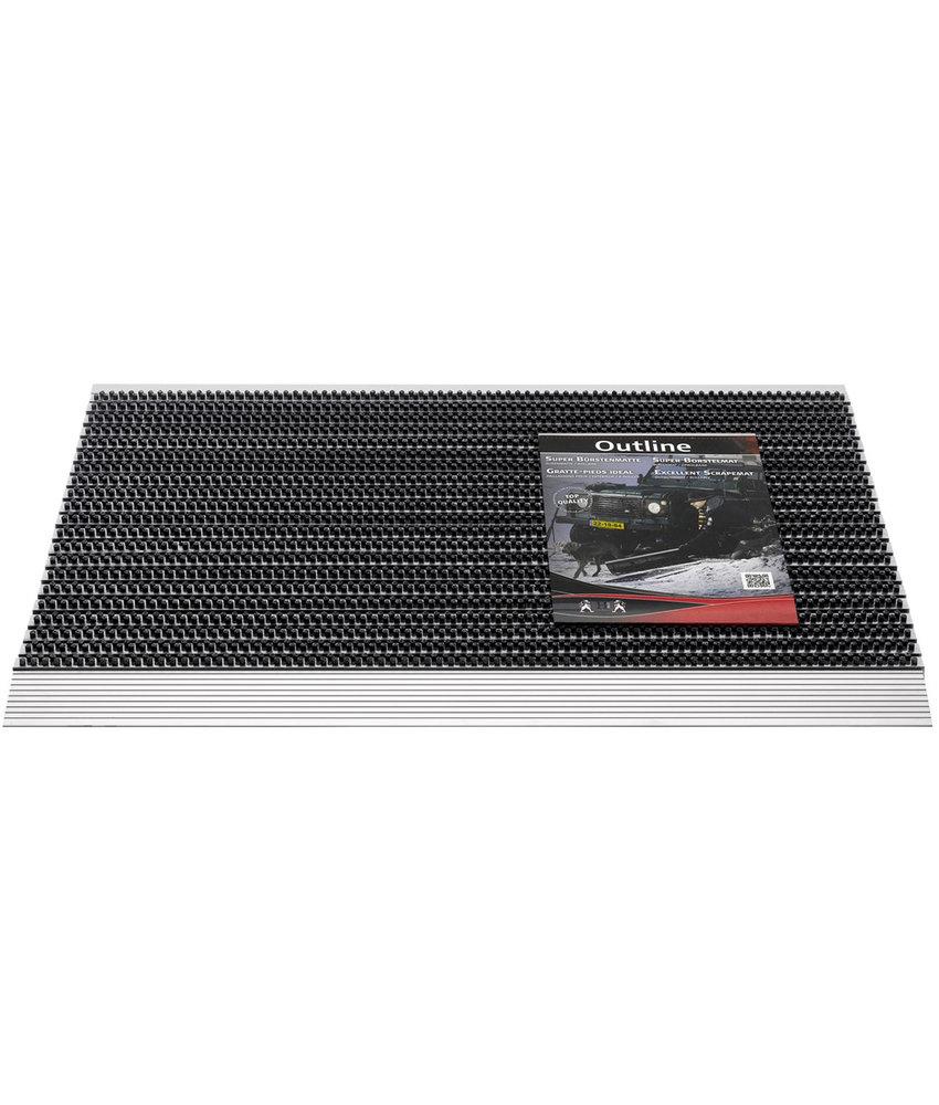 Deurmat / Borstelmat Outline  40x60 cm  Anthracite