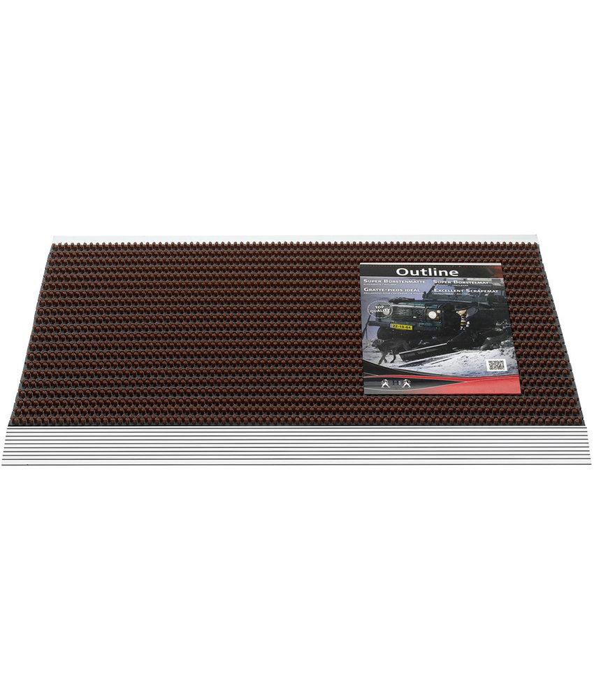 Deurmat / Borstelmat Outline  50x80 cm  Bruin