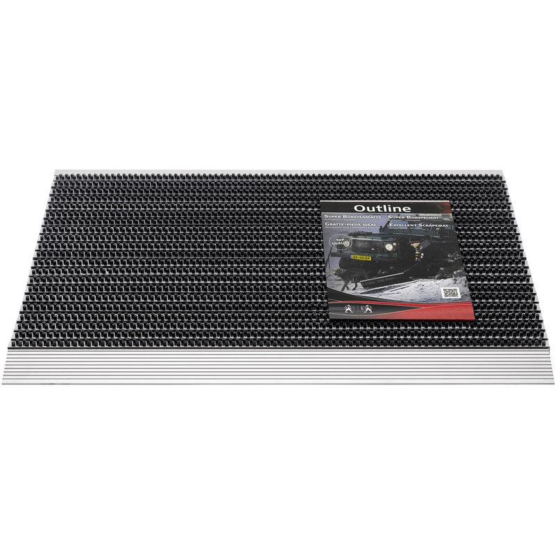 Deurmat / Borstelmat Outline  50x80 cm   Anthracite