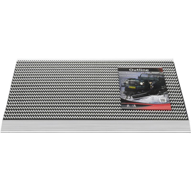 Deurmat / Borstelmat Outline  50x80 cm  licht Grijs