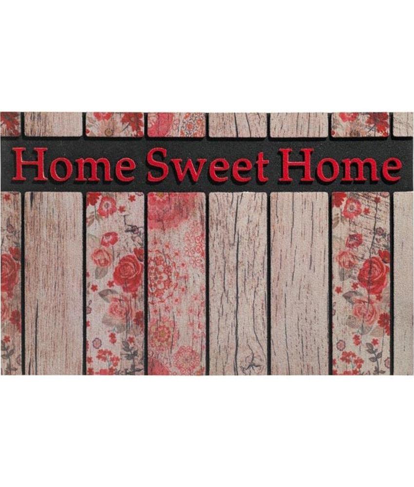 Rubber Deurmat  Home Sweet Home   45 x 75 cm.