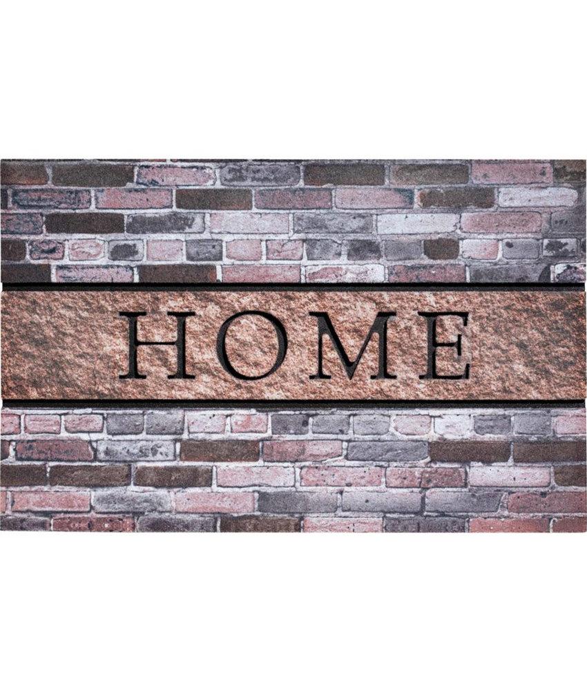 Rubber Deurmat  Home Bricks  45 x 75 cm.