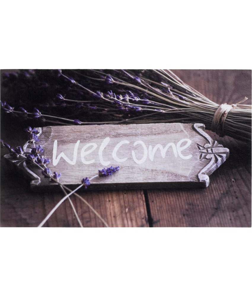 "Rubber Deurmat  Gallery ""Welcome Straw""  45 x 75 cm."