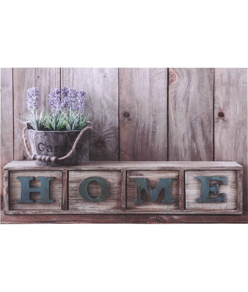 "Rubber Deurmat  Gallery ""Home Lavender""  45 x 75 cm."