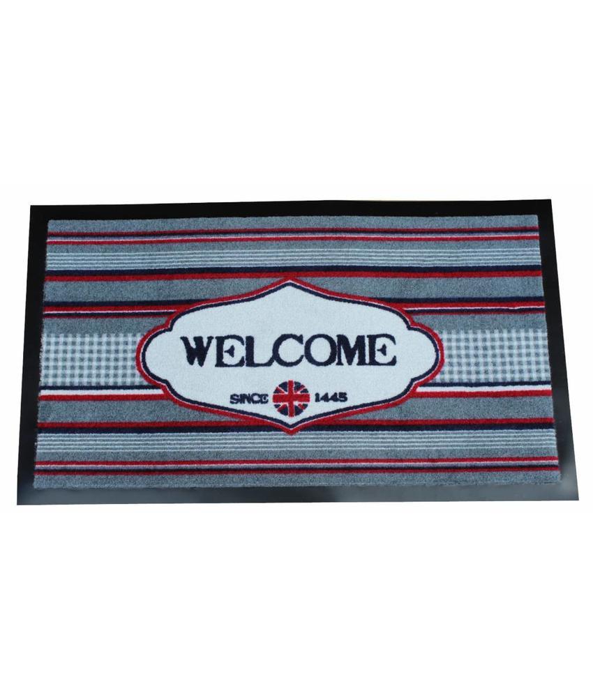 Deurmat Welcome since 45x75 cm.