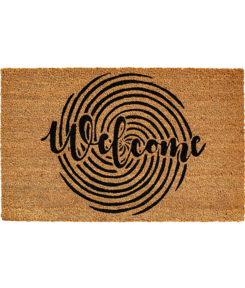 "Kokosmat  ""Welcome Circle""  Ruco Print 45 x 75 cm"