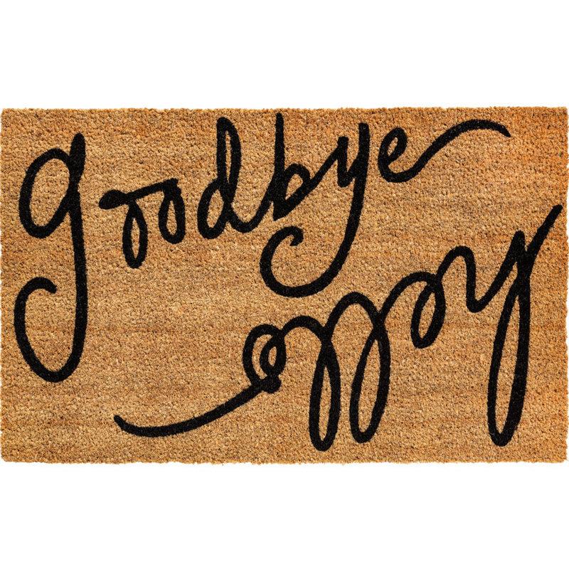 "Kokosmat  ""Hello Goodbye""  Ruco Print 45 x 75 cm"