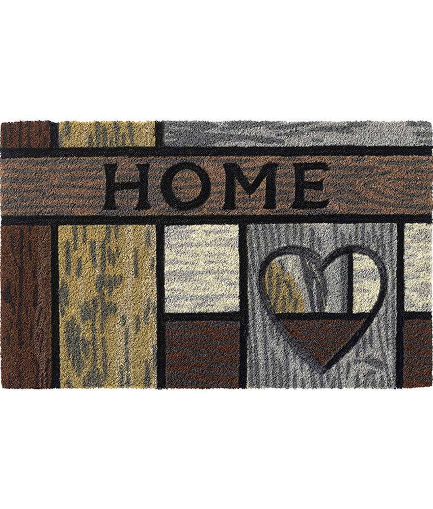 "Kokosmat Ruco Style ""Wooden Heart""   45 x 75 cm."