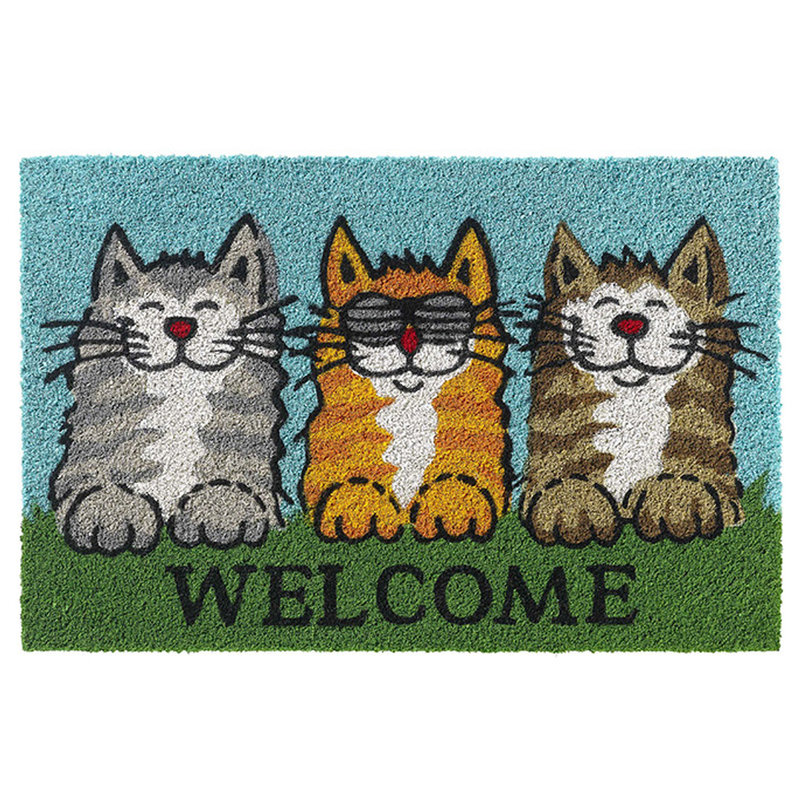 Kokosmat Welcome cats  40x60 cm.