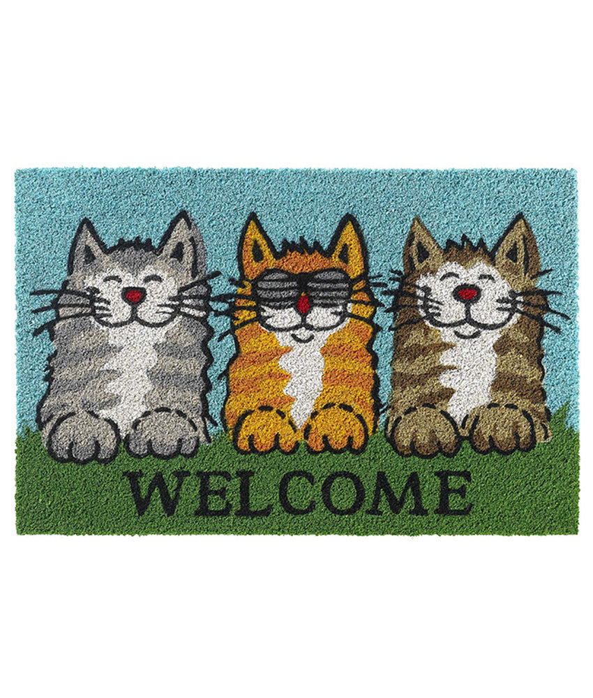 Kokosmat Welcome cats  40x60 cm.