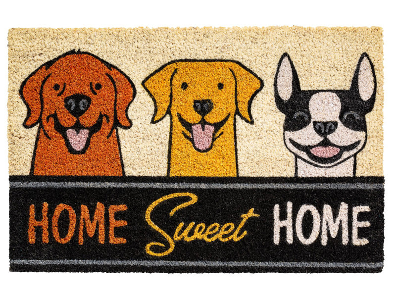 Kokosmat Home sweet home   Dogs  40x60 cm.