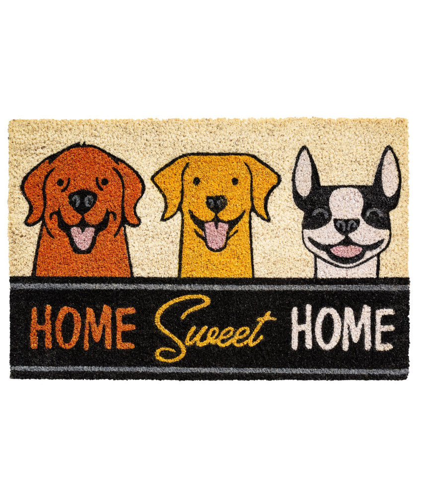 Kokosmat Home sweet home   Dogs  40x60 cm.