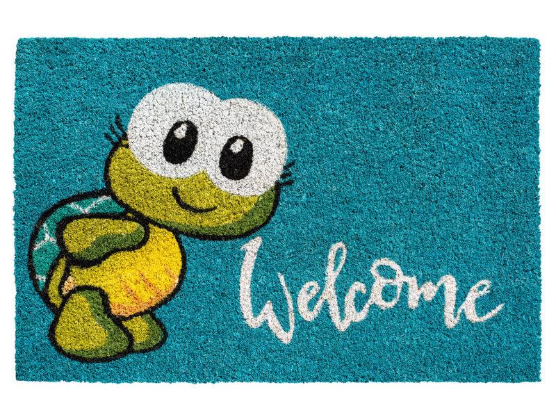 Kokosmat  Welcome Turtle  40x60 cm.