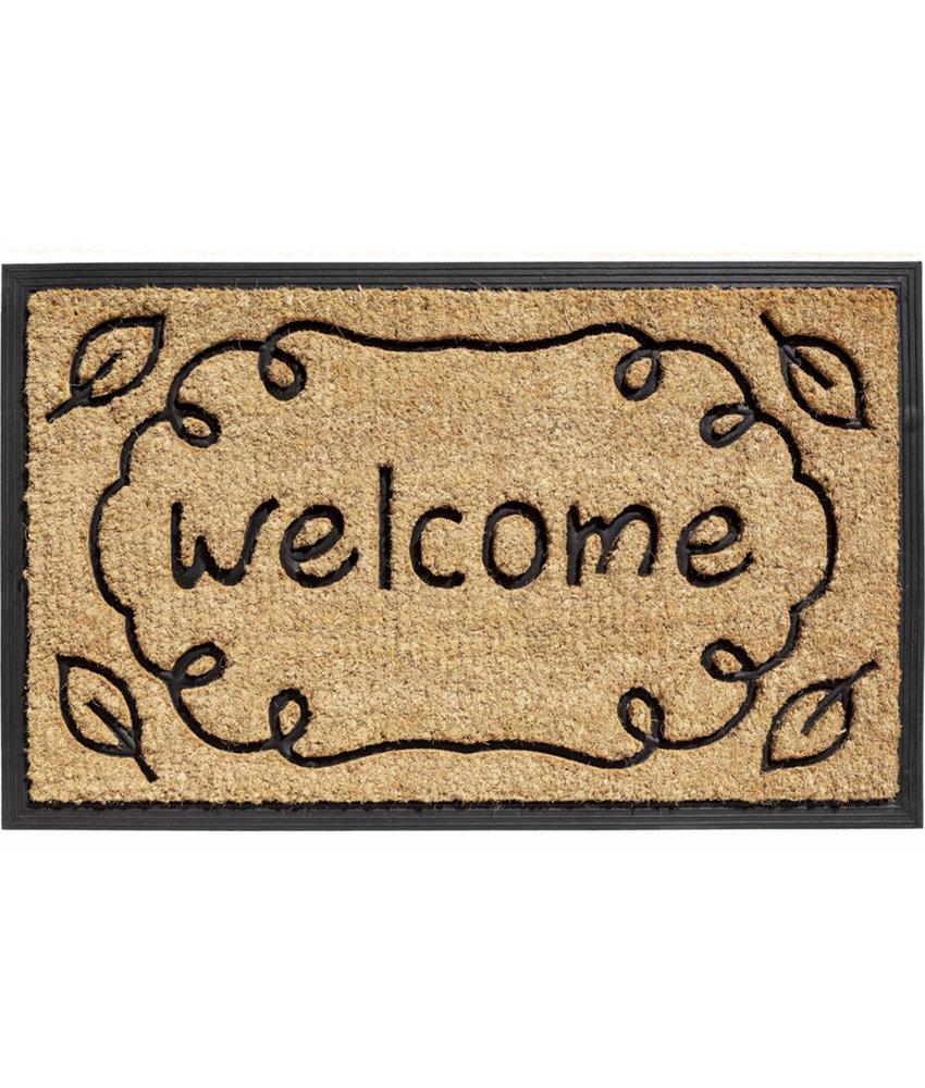 Kokosmat Bombay  Welcome around  45x75 cm