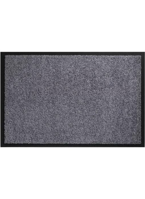 Wasbare schoonloopmat Grijs 60x90 cm.