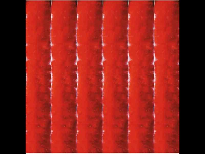 Vliegengordijn kattenstaart 120x230 cm.  Rood
