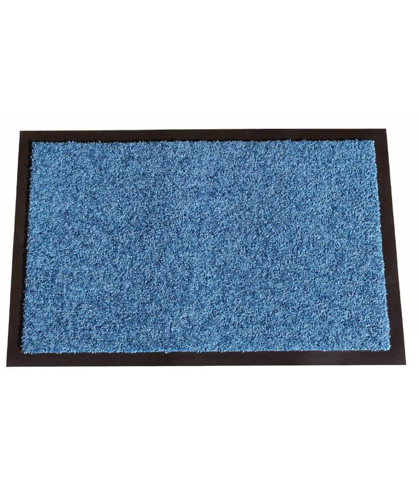 Wasbare schoonloopmat Blauw 40x60 cm.
