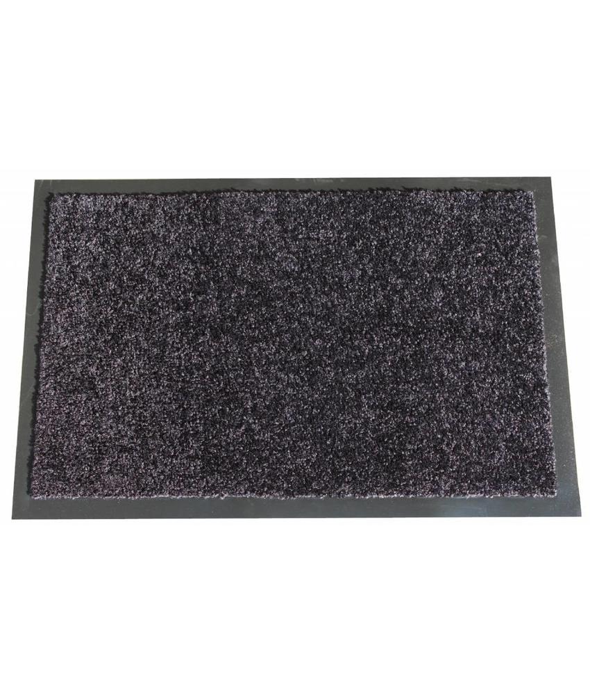 Wasbare schoonloopmat Zwart 40x60 cm.