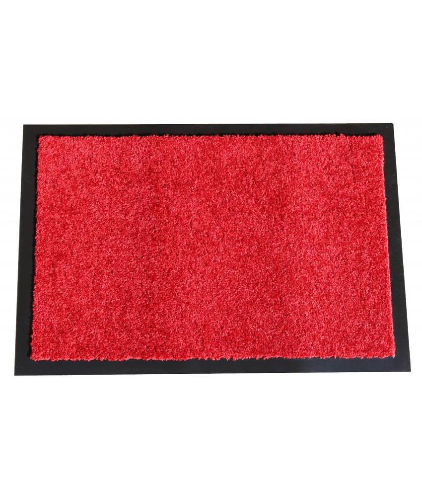 Wasbare schoonloopmat Rood 40x60 cm.