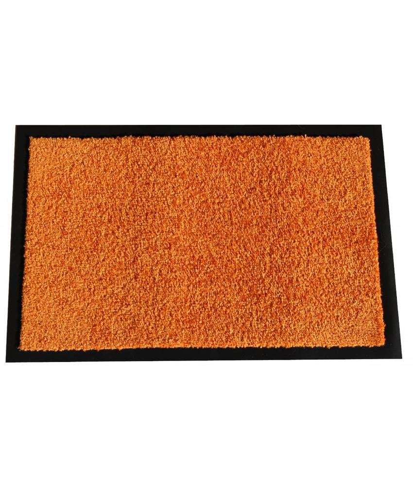 Wasbare schoonloopmat Orange 40x60 cm.